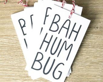 Bah Humbug Holiday Gift Tags