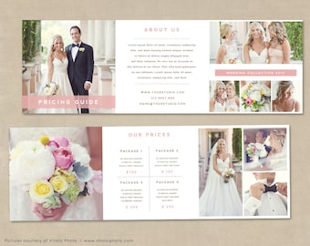Trifold Brochure, Price Guide Brochure, Trifold Template for Photographers, Photography Pricing Guide, Wedding Photographer Pricing Guide