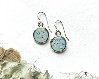 Dogwood Flower Earrings, Dogwood Earrings, Wearable Art, Everyday Jewelry, Spring Fashion, Flowering Dogwood Tree