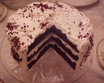 Fake Food Vanilla Red Velvet Cake with slice out Fake Cake