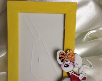 Diddl painted wooden picture frame