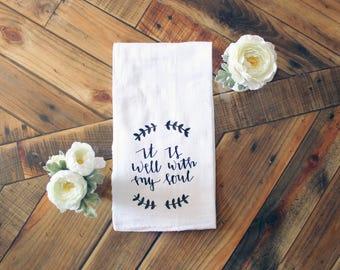 It Is Well Hymn Tea Towel