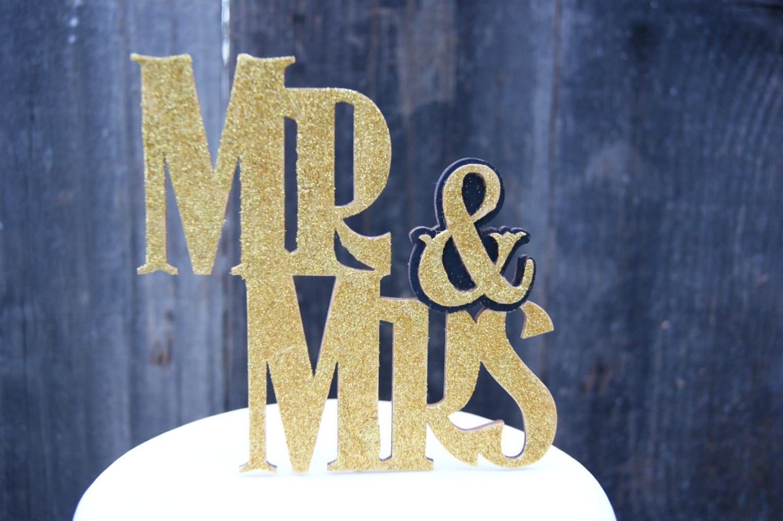 Cake Topper, Wedding Cake Topper, Mr & Mrs, Wedding, 50th ...