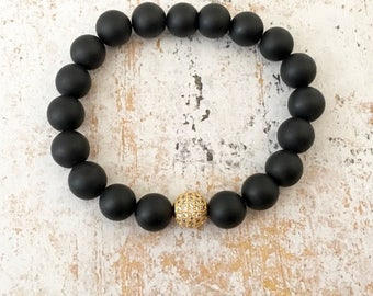 Black Onyx Bracelet for Men