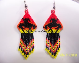 End of the trail Beaded Earrings