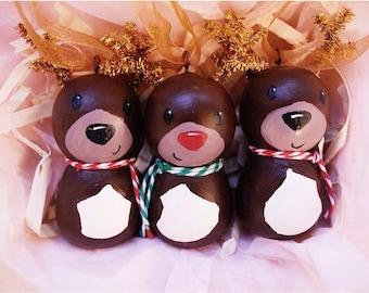 """Custom Reindeer Ornaments 2"""""""