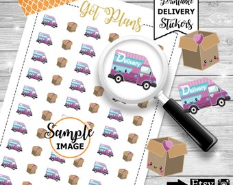Delivery Van Stickers, Printable Planner Stickers, Planner Printables, Decorating Stickers, Delivery Stickers, Stickers For Planner