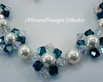 Swarovski Pearls and Crystals Necklace Set