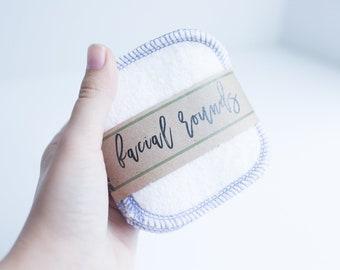 "Organic Bamboo Facial Rounds + Organic Cotton Thread  Face Cloth - Make-up Remover  4"" Facial Rounds - Choose your quantity  TWILIGHT THREAD"