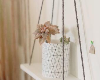 hanging shelf - Small Corian Shelf, , display shelf, wall shelves, swing shelf