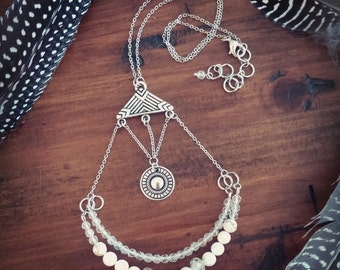 The Constellation // Statement Necklace // Beaded Necklace // Boho Chic // Tribal // Bohemian // Bib Necklace // Breastplate Necklace // Zen