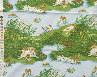 Heather Ross Briar Rose frog pond blue Fat Quarter yard or more OOP HTF