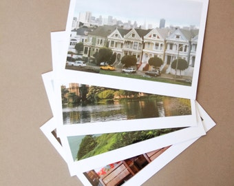 SAN FRANCISCO Set of 4 Blank Photo Note Cards