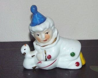 Vintage Satis 5 Porcelain Clown Figurine
