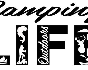 Camping Life SVG Cutting File for Cricut