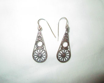 Sterling Silver Steampunked Earrings