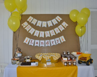 DIY, Construction Birthday PARTY PACK