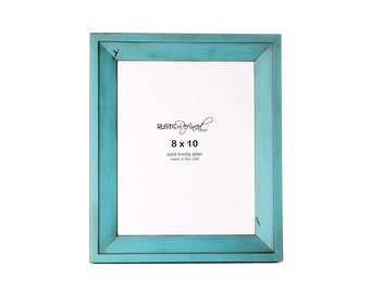 8x10 Haven picture frame - Turquoise, Free Shipping