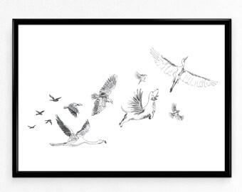 Flight Limited Edition Print, A3