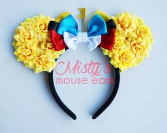 Inspired Tweedle Dee and Tweedle Dum Rose Mouse Ears