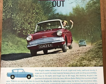Vintage Ford Anglia Add