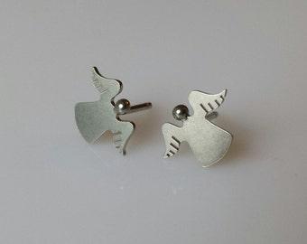 ANGEL Sterling Silver  Stud Earrings Mini Zoo series