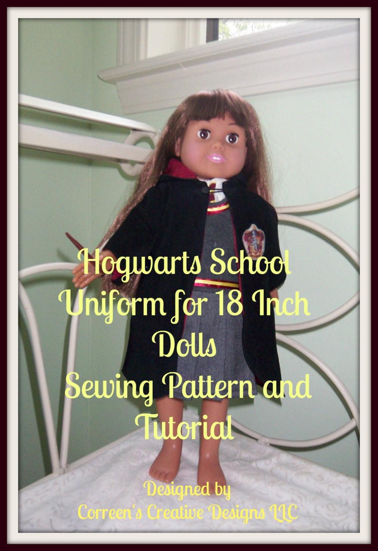 Hogwarts-Schule einheitliche Nähen Schnittmuster