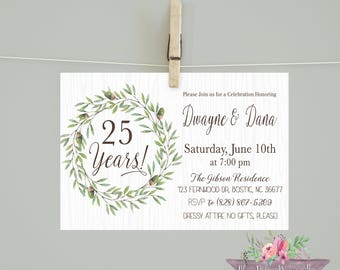 Anniversary Party Invitation/25 years Invitation/Anniversary invitation