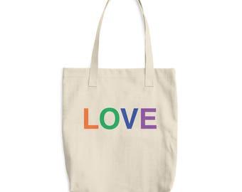 Cotton Market Bag, Love, Boho Grocery Tote