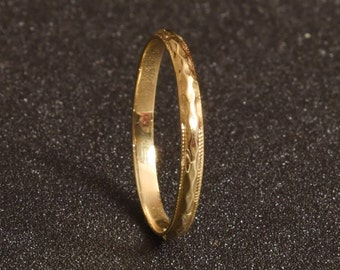 Wedding ring, Stacked wedding ring, Women's wedding ring, Thin wedding ring, Stacked wedding band, Stacking gold ring, Dainty gold ring