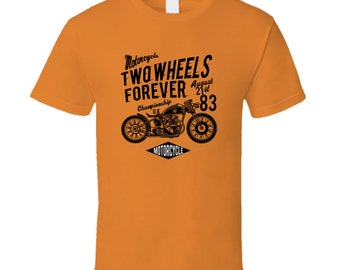 Motorcycle Two Wheels Forever U. K. T Shirt