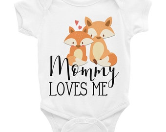 Cute Baby Onesie® Fox Onesie for Baby, fox onesie, fox baby, Mommy loves me onesie, baby boy onesie, woodland onesie, fox baby clothes, baby