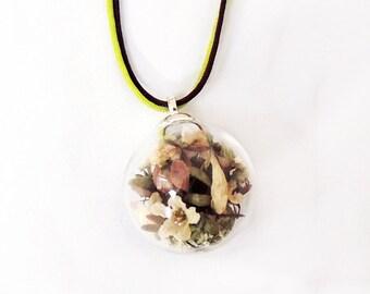 Bubble Nature Vintage Flower pendant