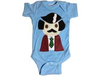 Baby Bodysuit - Stay Crafty... Burgundy Jacket Man - Infant Bodysuit - Baby Shower - Stay Classy