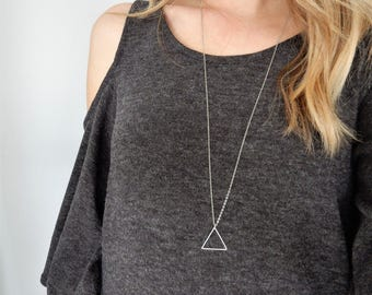Silver Triangle Necklace | Arrow Necklace | Pendant Necklace | Triangle Shape | Minimal Necklace | Simple Necklace | Silver Triangle