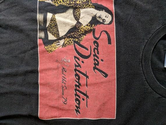 Vintage Social Loungewear Promo Tshirt Shirt Black Rare Shirt T Up Distortion Pin Vintage Graphic RnxTwrRq8
