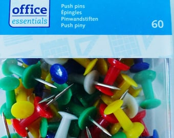 60 pins pins to display pic colorful push pin blue white green yellow
