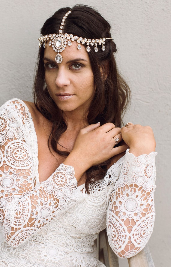 Starla Head Chain Bridal Head Chain wedding Jewelry Wedding