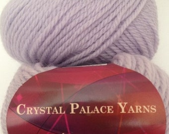 Crystal Palace Aran Wool Yarn, Color-Soft Blue #1008, 100% Wool, Worsted Weight