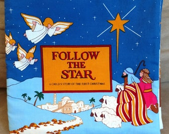Cloth Book/Cloth Children's Book/Cloth Christmas Book/Follow the Star
