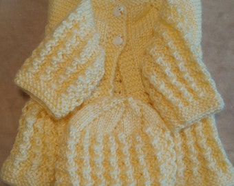Infant Knitted Baby Sweater Set