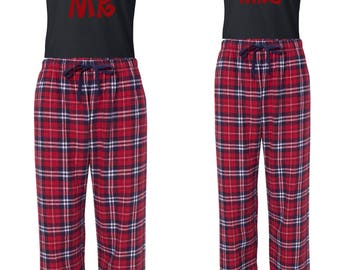 Mr. & Mrs. Santa Hat PJ and Shirt set Christmas Holidays