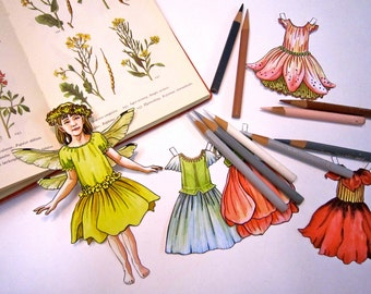 Flower Fairy Paper Doll