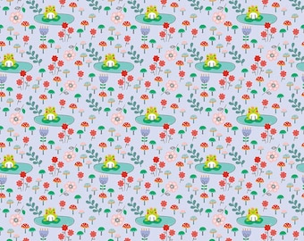 Princess Dreams Frogs Purple by Riley Blake Designs - Floral Flowers - Quilting Cotton Fabric - choose your cut
