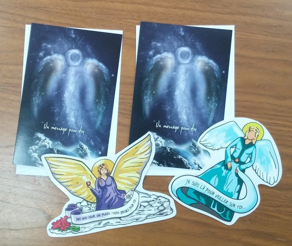 2 cards with Angels/anniversary/love/mothers/map of electrostatic greeting/Angel party.