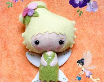 FAIRY - Tinker Bell - Felt Doll - Gingermelon Doll