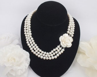 Indira - Freshwater Pearl Bridal necklace