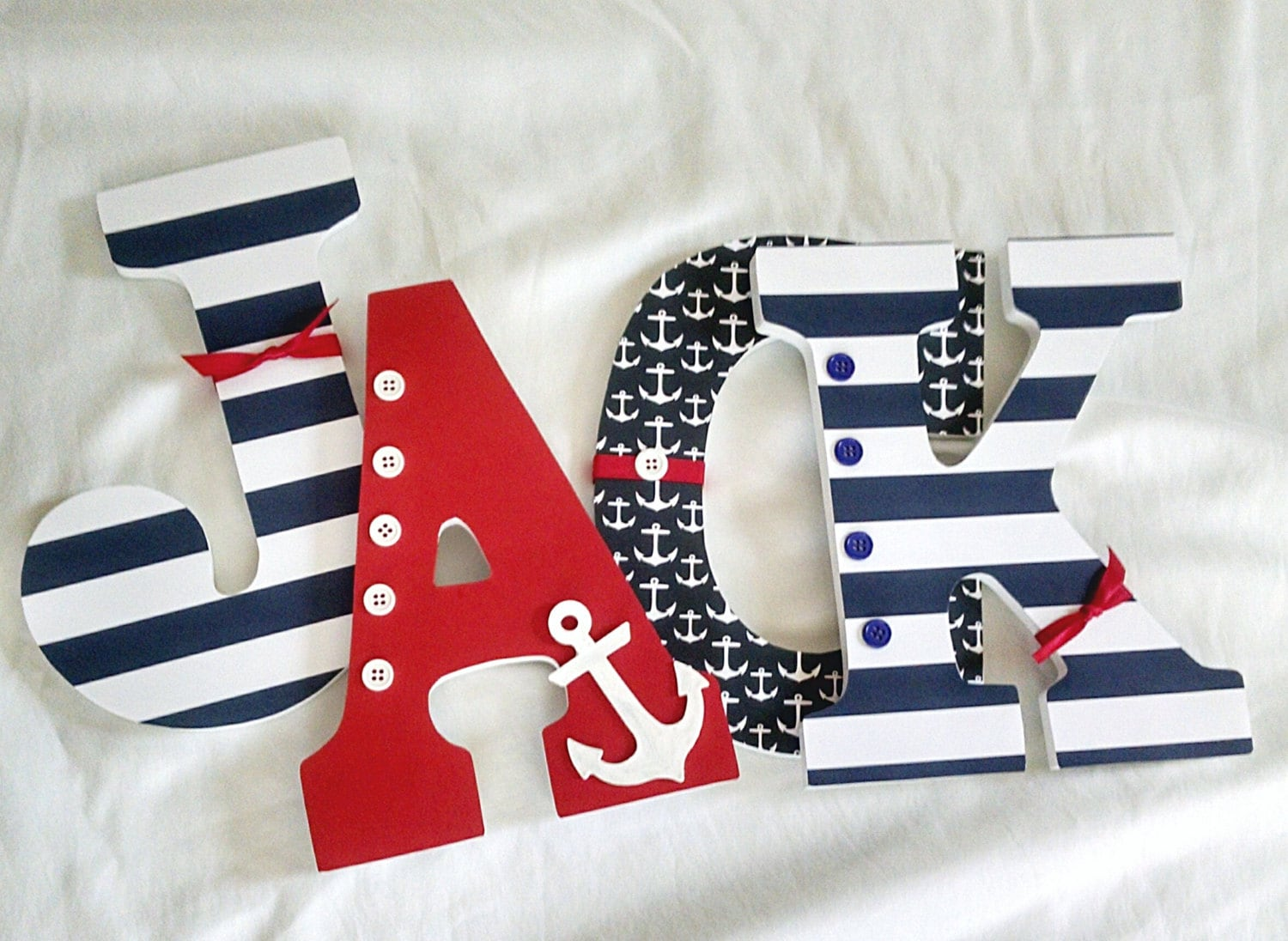 Nautical Letters Nautical Nursery Letters Wooden Letters