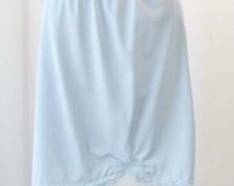 Blue Half Slip Vintage The Doesn't Slip Chiffon Cut Out Bow Front Small