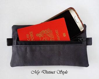 Canvas Pouch / Cycling Pouch / Pencil Case Zipper Pouch / Wallet Pouch